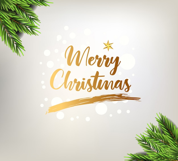 Christmas greeting card with elegant decorative elements