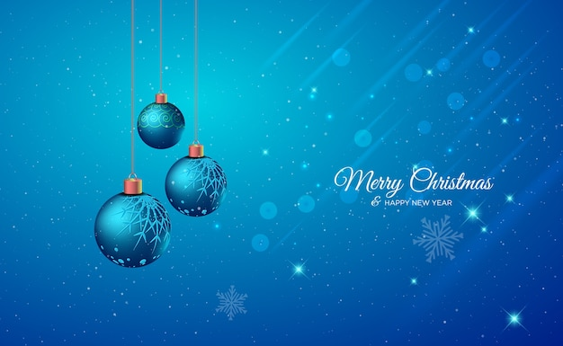 Christmas greeting card with light realistic decorative elements christmas background