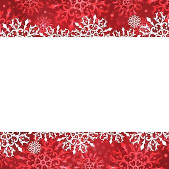Рождественская открытка со снежинками. зимний шаблон.