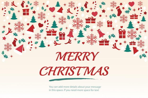 Christmas greeting card with space background