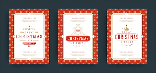 Christmas greeting card with text frame