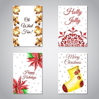 Коллекция рождественских поздравительных открыток