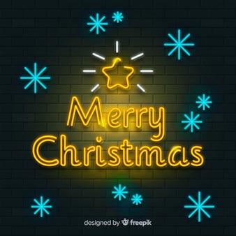 Рождественский приветствие неоновый знак