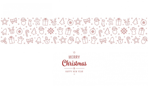 Christmas greeting ornament icons
