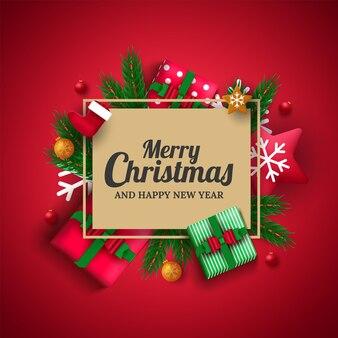 クリスマスの挨拶のテンプレート。