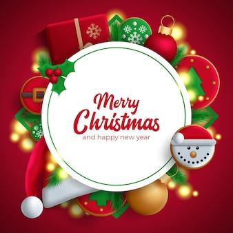 クリスマスの挨拶テンプレート。