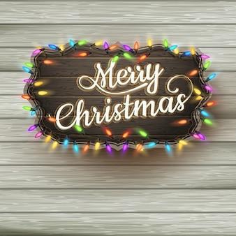 ヴィンテージ看板の挨拶クリスマス。