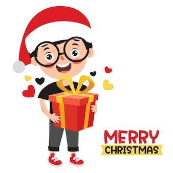 漫画のキャラクターとクリスマスの挨拶