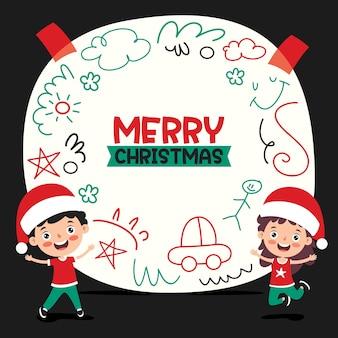Рождественское поздравление с героями мультфильмов