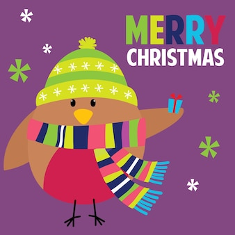 かわいいロビンとのクリスマスの挨拶