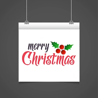 Christmas greetings card design with grey background vector