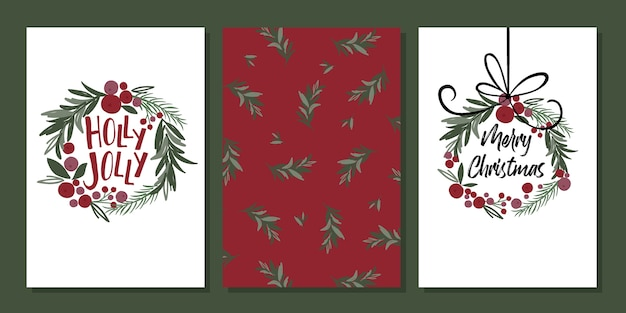 Christmas greetings card sets with traditional classic style