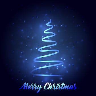 クリスマスツリーとクリスマスの挨拶カードのタイポグラフィ