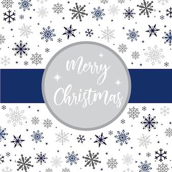 Рождественская открытка с украшением снежинки фоном