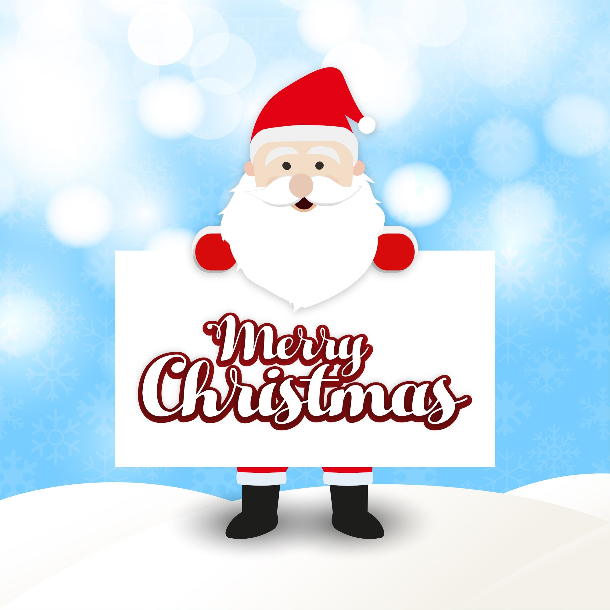 Christmas greetings card with santa clause