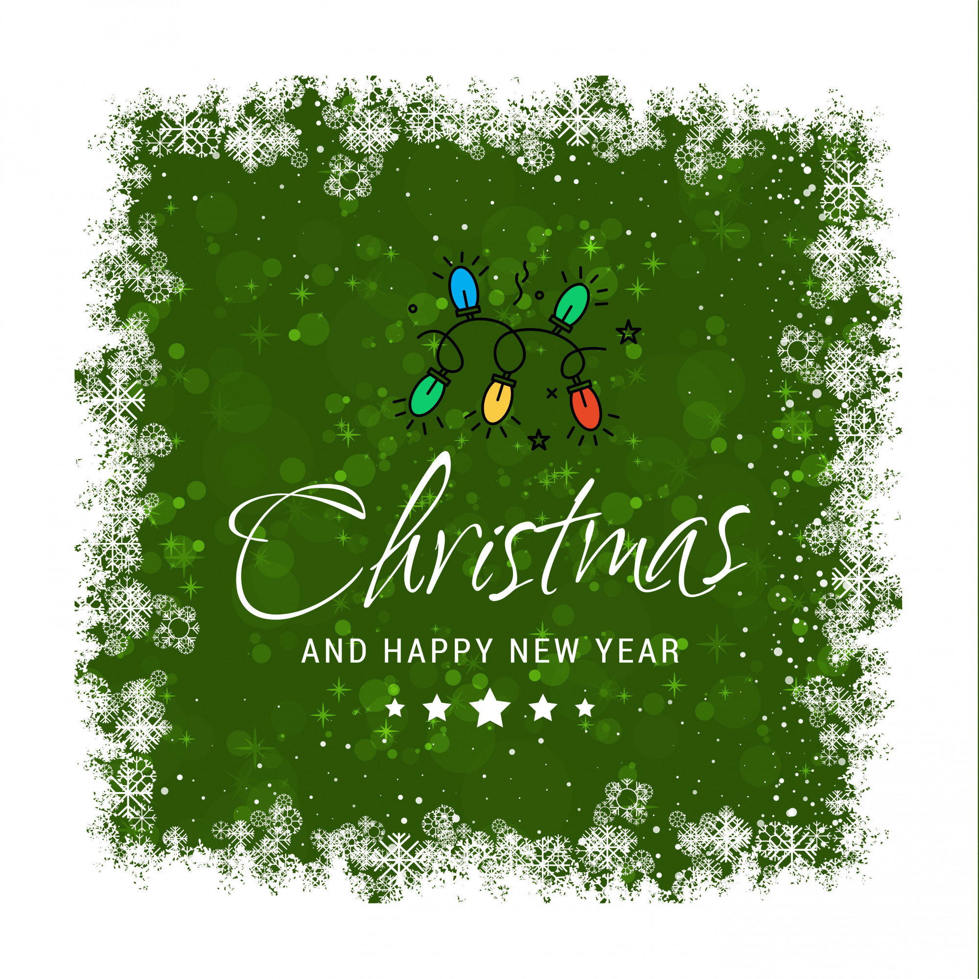 Christmas greetings card with typography