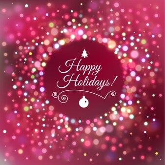 クリスマスのご挨拶、幸せな休日