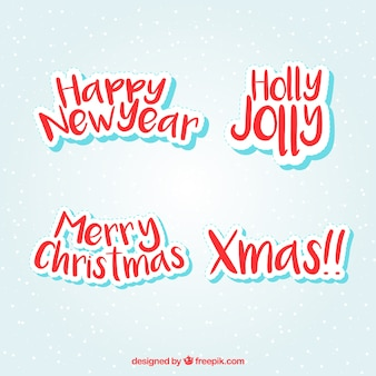 Christmas greetings labels