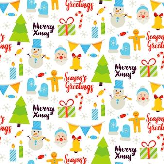 Рождественские поздравления бесшовные модели. векторные иллюстрации. с новым годом фон.