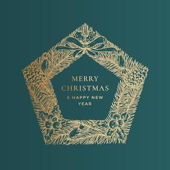 クリスマスの挨拶ベクトルバナーテンプレート