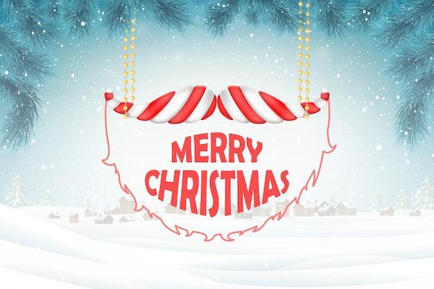 Christmas greetings on xmas background