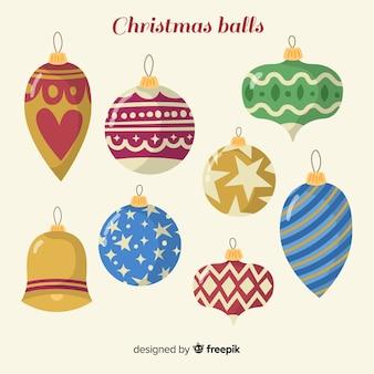 Christmas hand drawn balls collection