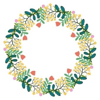Christmas hand drawn wreath vector