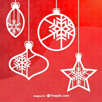 Рождество висит украшения