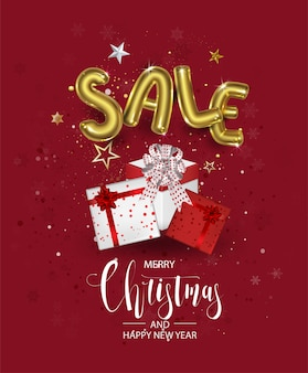 Christmas and happy new year christmas promotion