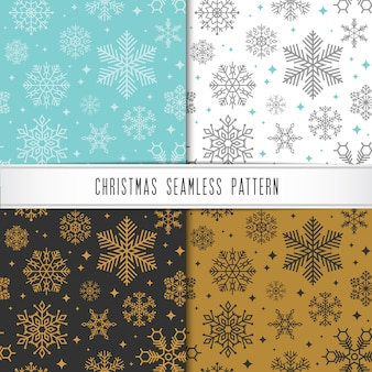 Christmas and happy new year pattern set.