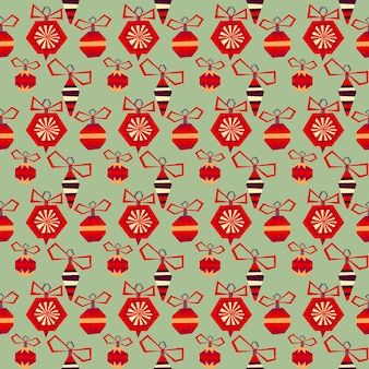 Christmas and happy new year pattern with hand drawn decorative elements. trendy vintage style.