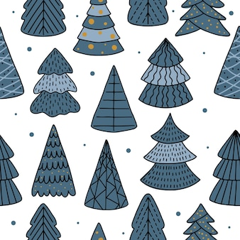 Christmas and happy new year seamless pattern with christmas decorations.