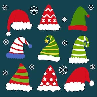 Christmas hat vector.