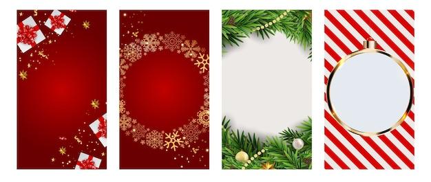 Instagramストーリー投稿セットのクリスマスhilidat背景