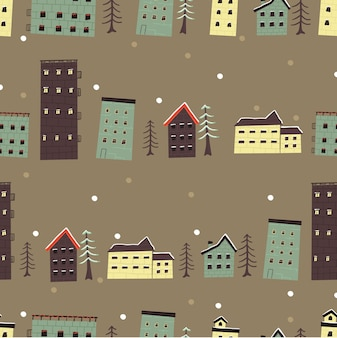 Christmas holiday celebration christmas house pattern