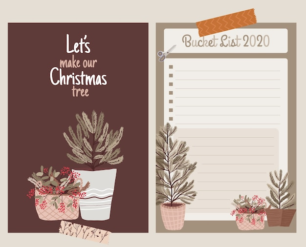 Christmas  holiday celebration  collection set sticker, journal, notes,bucket list