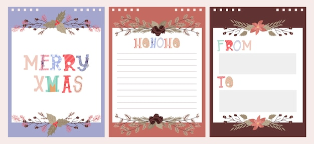 Christmas holiday celebration  collection set sticker, journal, notes,