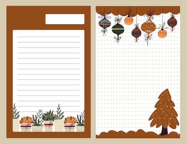 크리스마스 휴일 축하 디자인 컬렉션 세트 스티커