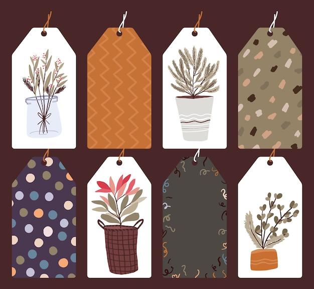 Рождественский праздник праздник дизайн коллекции набор стикеров