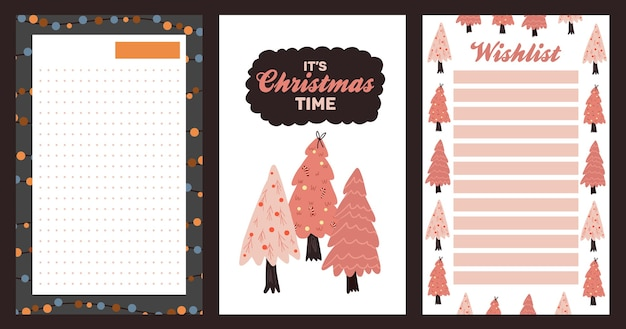 Christmas holiday celebration design collection set sticker