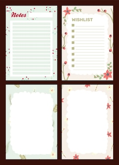 Christmas holiday celebration journal notepad cute letter scandinavian style Premium Vector