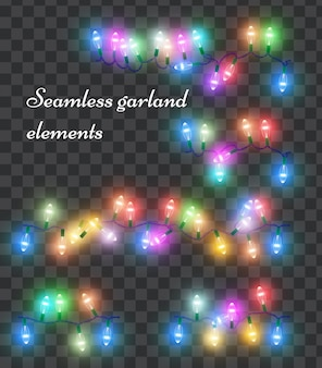 Christmas holiday colorful light garland