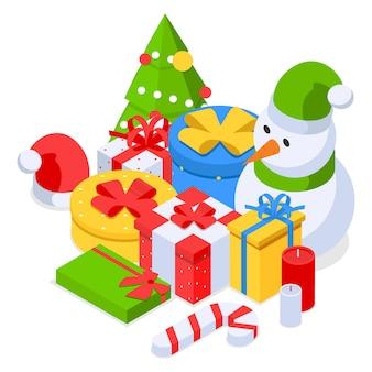 クリスマスホリデーデコレーションセットギフトボックスキャンディケイン雪だるまキャンドルクリスマスツリー