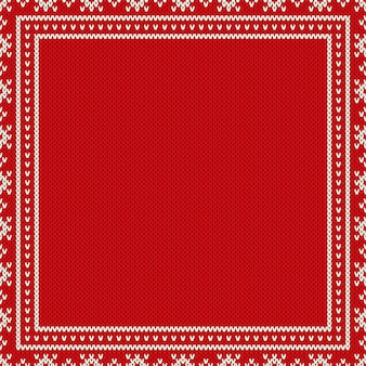 Christmas holiday design knitted background with a place for text. wool knit sweater texture imitation.