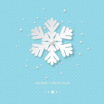 종이 컷 눈송이와 크리스마스 휴가 디자인.
