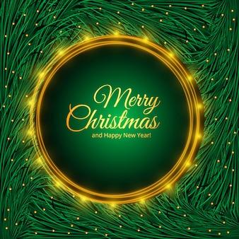 モミの木の枝のデザインのクリスマス休暇