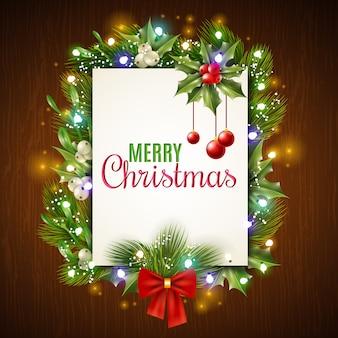 Christmas holiday frame