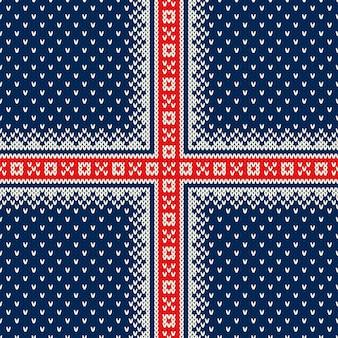 クリスマスホリデーニットセーターパターン