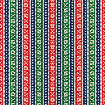 クリスマスホリデーニットセーターシームレスパターンデザインウールニットテクスチャの模倣