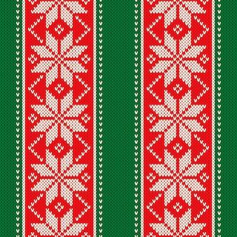Рождественский праздник вязаный свитер бесшовные традиционный узор дизайна